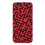 Negro rojo del laberinto iPhone 5 protectores