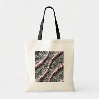 Negro rojo del personalizar del modelo del edredón bolsa lienzo