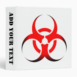 "Negro rojo del zombi del símbolo del Biohazard Carpeta 1 1/2"""