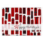 Negro rojo envuelto lindo de los presentes buenas  felicitaciones