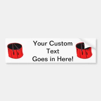 negro rojo look.png handdrawn del tambor n pegatina para auto