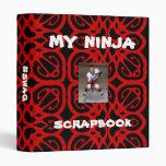 Negro rojo personalizado de Ninja del libro de rec