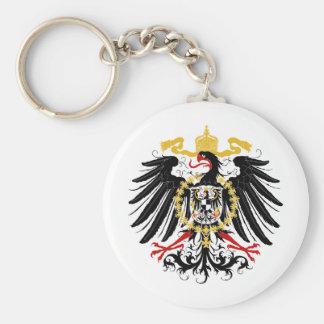 Negro rojo prusiano y oro de Eagle Llaveros Personalizados