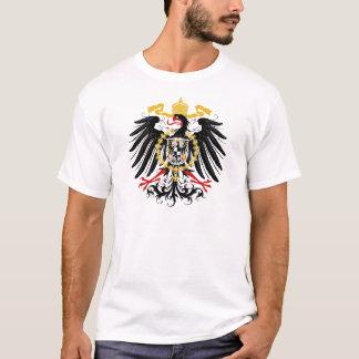 Negro rojo prusiano y oro de Eagle Playera