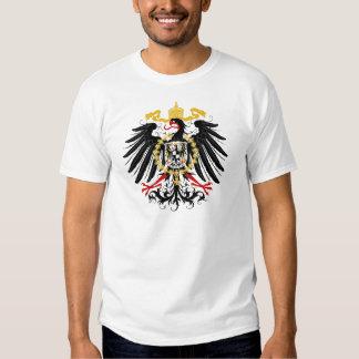 Negro rojo prusiano y oro de Eagle Polera
