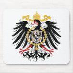 Negro rojo prusiano y oro de Eagle Tapetes De Raton