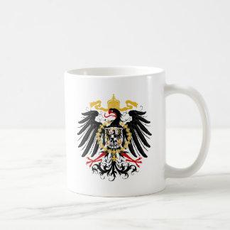 Negro rojo prusiano y oro de Eagle Taza De Café