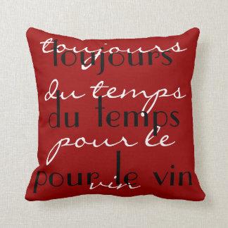 """Negro rojo """"siempre hora para palabra francesa de  almohada"""