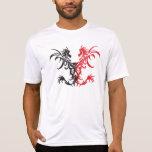 Negro/rojo tribales de los dragones camisetas