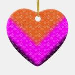 Negro rosado anaranjado del modelo de la calabaza ornamentos de reyes magos