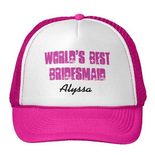 Negro rosado conocido de encargo de la mejor dama  gorro de camionero