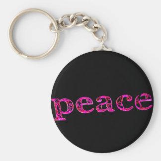 negro rosado de la paz llaveros personalizados
