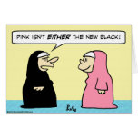 negro rosado de las monjas nuevo felicitacion