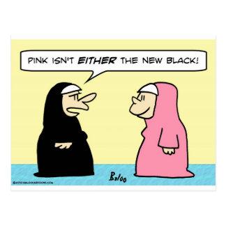 negro rosado de las monjas nuevo tarjetas postales