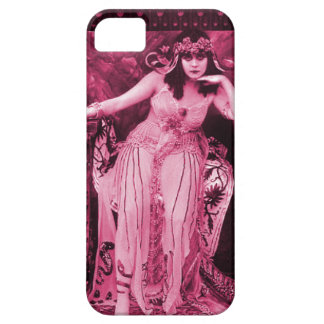 Negro rosado del caso del iPhone 5 de Theda Bara Funda Para iPhone SE/5/5s