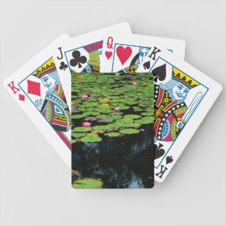 negro rosado del loto baraja cartas de poker