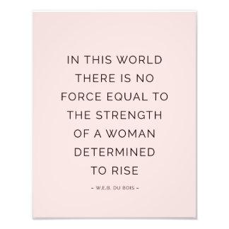 Negro rosado inspirador de las citas de la mujer fotografía