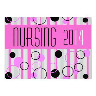 Negro rosado retro 2014 de las invitaciones de la comunicado