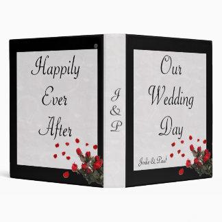 """Negro - rosas - nuestro día de boda carpeta 1"""""""