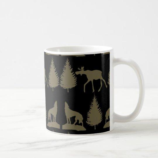 Negro rústico salvaje del moreno de los árboles de taza de café