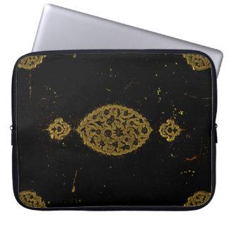 Negro rústico y oro de las cubiertas góticos manga portátil