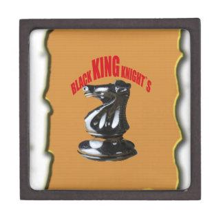 ` Negro s de rey Knight con el fondo Cajas De Regalo De Calidad