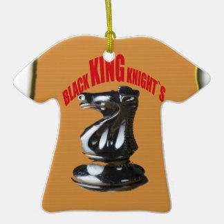 ` Negro s de rey Knight con el fondo Ornamento Para Arbol De Navidad