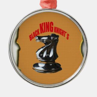 ` Negro s de rey Knight con el fondo Ornamento De Navidad