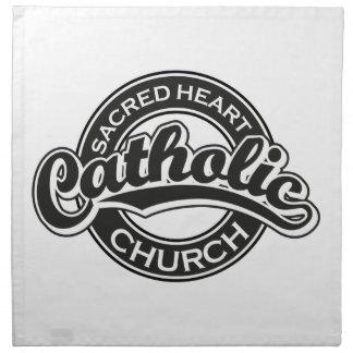 Negro sagrado de la iglesia católica del corazón servilleta de papel