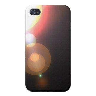 Negro simple de la llamarada iPhone 4 cárcasa