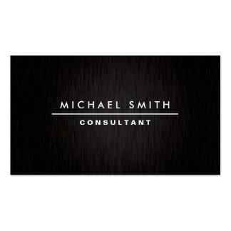 Negro simple llano moderno elegante profesional tarjetas de visita