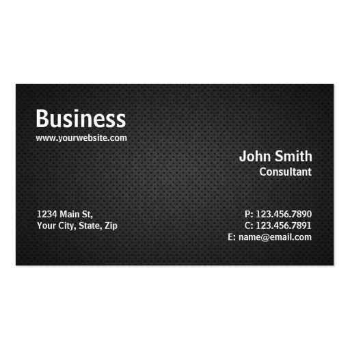 Negro simple moderno profesional de la reparación tarjetas de visita