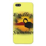 Negro sin fin del verano iPhone 5 cárcasas