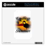 Negro sin fin del verano iPod touch 4G skins