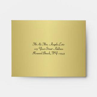 Negro, sobre floral A2 del oro para las tarjetas