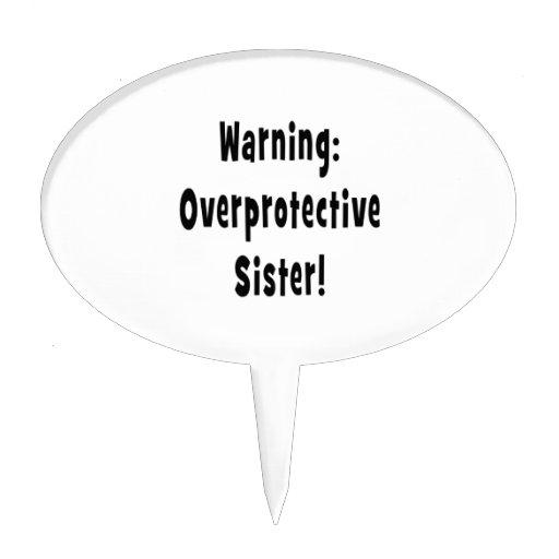 negro sobreprotector amonestador de la hermana figura para tarta
