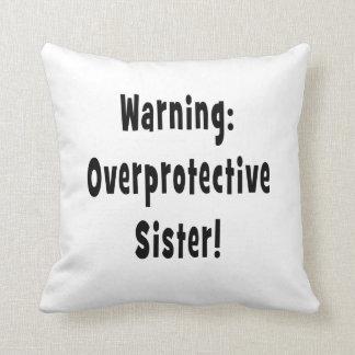 negro sobreprotector amonestador de la hermana cojín decorativo