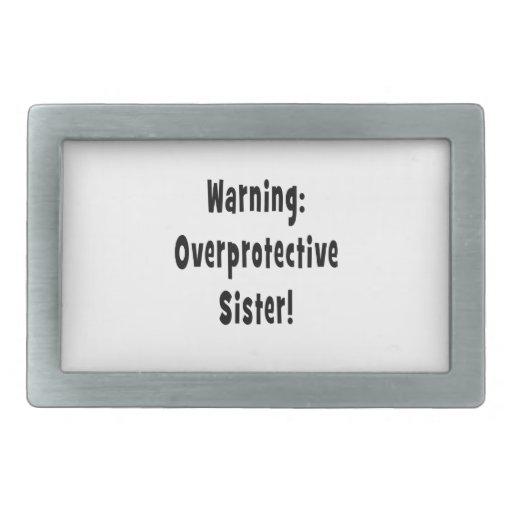 negro sobreprotector amonestador de la hermana hebilla de cinturón rectangular