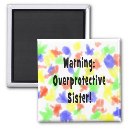negro sobreprotector amonestador de la hermana imán