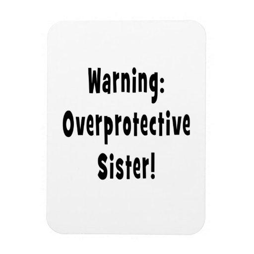 negro sobreprotector amonestador de la hermana iman rectangular