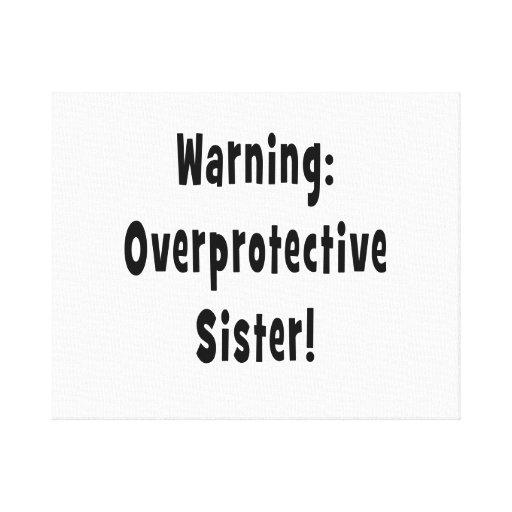 negro sobreprotector amonestador de la hermana impresion de lienzo
