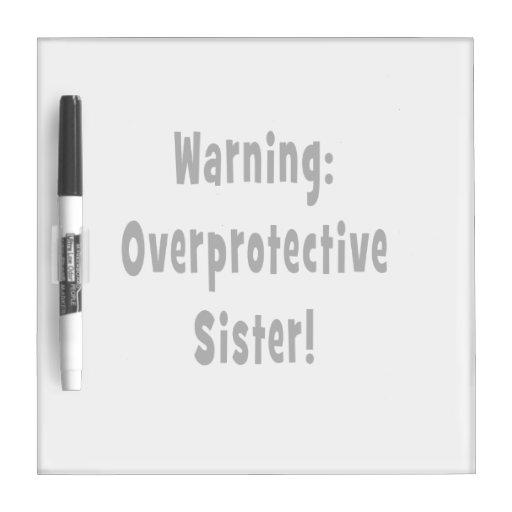 negro sobreprotector amonestador de la hermana pizarras blancas