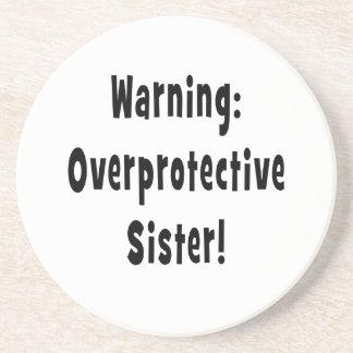negro sobreprotector amonestador de la hermana posavasos manualidades