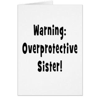 negro sobreprotector amonestador de la hermana tarjeta de felicitación