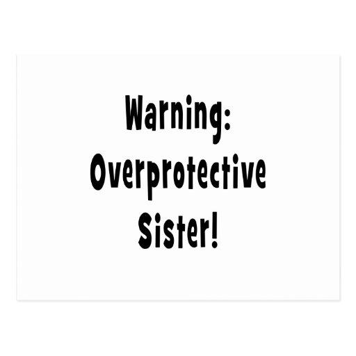 negro sobreprotector amonestador de la hermana tarjetas postales