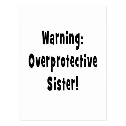 negro sobreprotector amonestador de la hermana tarjeta postal