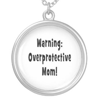 negro sobreprotector amonestador de la mamá colgante redondo