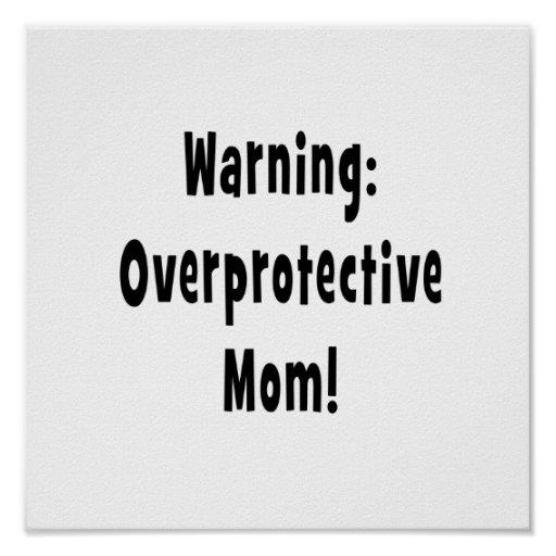 negro sobreprotector amonestador de la mamá impresiones