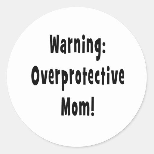negro sobreprotector amonestador de la mamá pegatina redonda