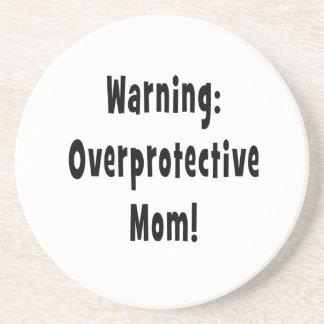 negro sobreprotector amonestador de la mamá posavasos manualidades